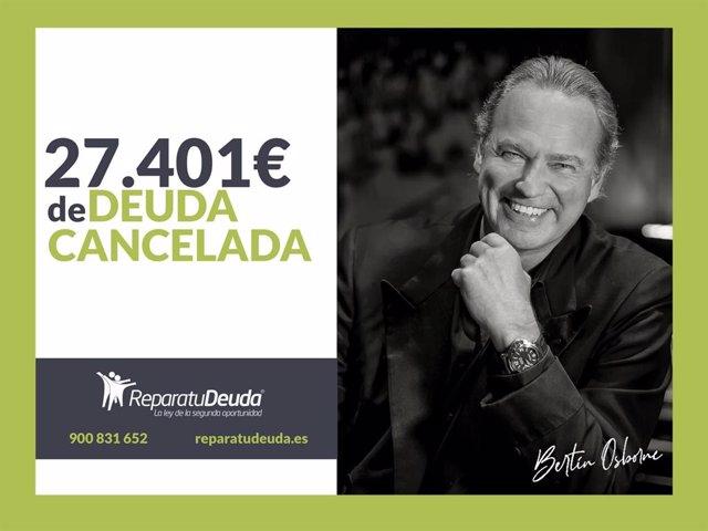 COMUNICADO: Repara tu Deuda cancela 27.401 € en Palma de Mallorca (Baleares) con la Ley de Segunda Oportunidad