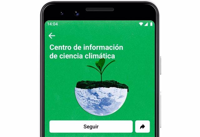 Cambio climático.- Facebook lanza en España su Centro de Información para desmentir los mitos sobre el cambio climático