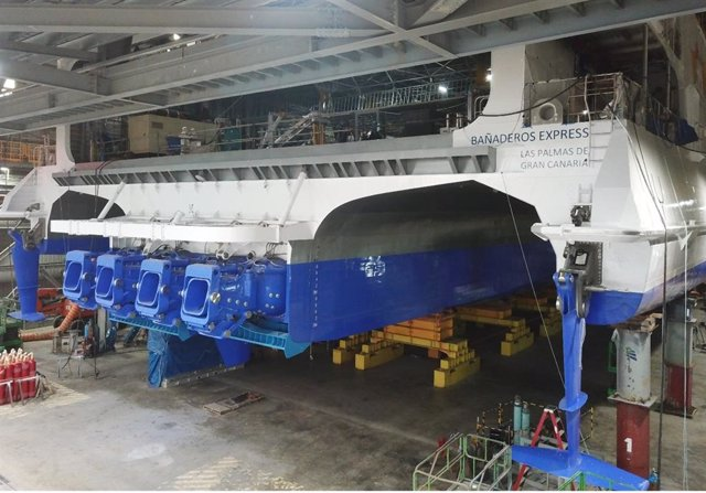Fred. Olsen Express prevé que el nuevo 'Bañaderos Express' comience a operar en Canarias en verano