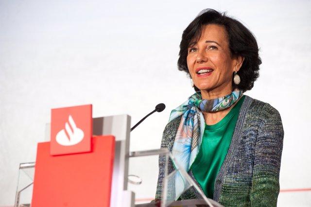 La presidenta de Banco Santander, Ana Botín, en la presentación de resultados de 2020.