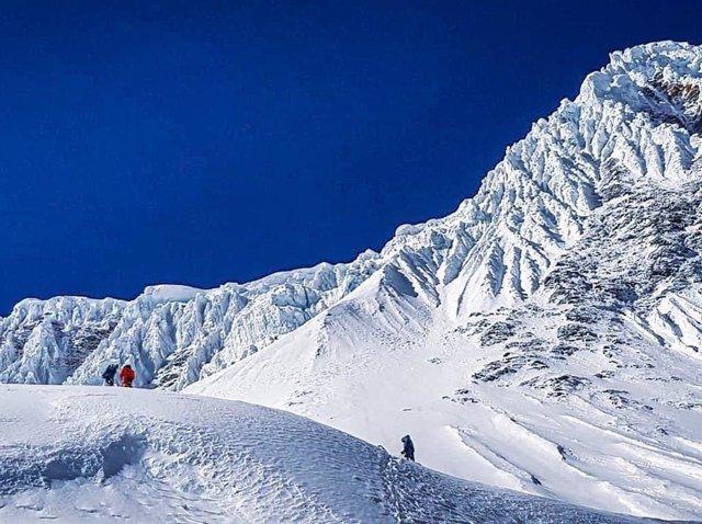 Imagen de la expedición de Alex Txikon al Manaslu