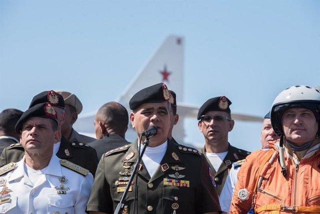 Archivo - El ministro de Defensa de Venezuela, Vladimir Padrino López-
