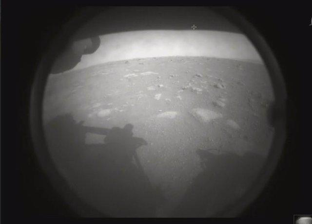 Primera foto del rover Perseverance desde Marte