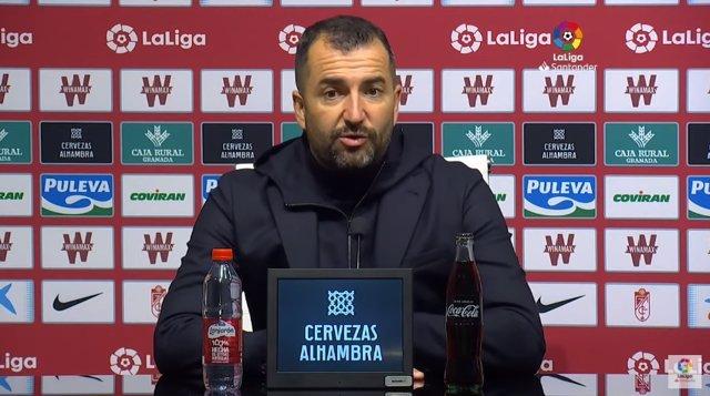 Diego Martínez, entrenador del Granada CF