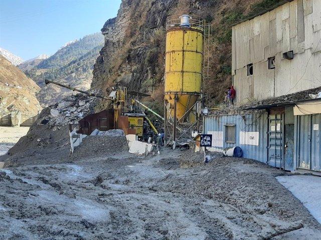Inmediaciones de una planta eléctrica de Chamoli, en India.