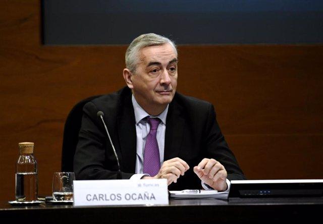 Archivo - El director general de Funcas, Carlos Ocaña.