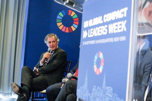 Archivo - El presidente de Acciona, José Manuel Entrecanales, durante su intervención en la Cumbre de Acción Climática de Naciones Unidas