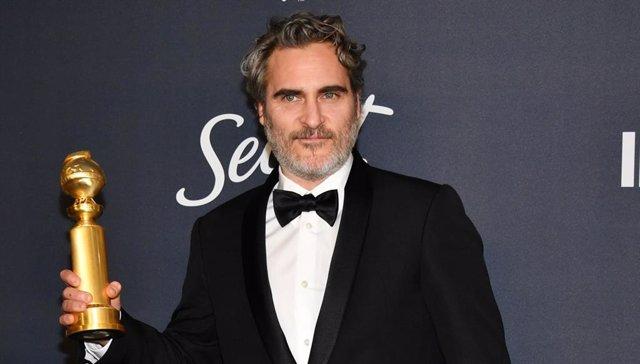 Archivo - Joaquin Phoenix gana el Globo de Oro