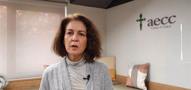 La directora de Relaciones Institucionales de AECC, Ana Fernández.
