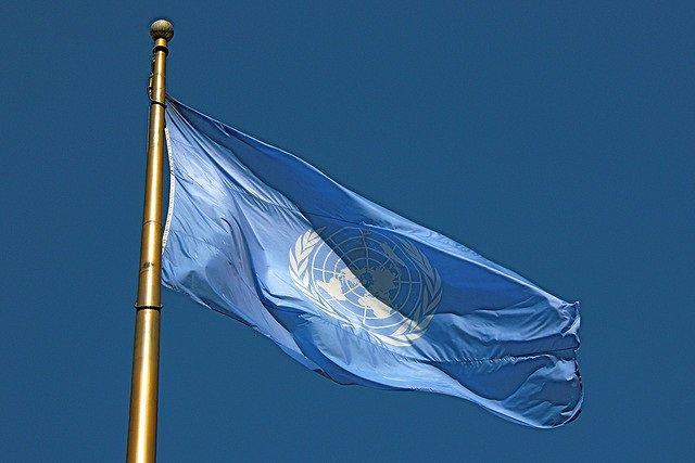 Archivo - Bandera de Naciones Unidas, ONU