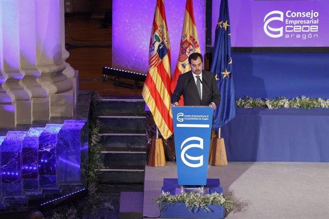 El presidente de CEOE Aragón en la V Cumbre Empresarial