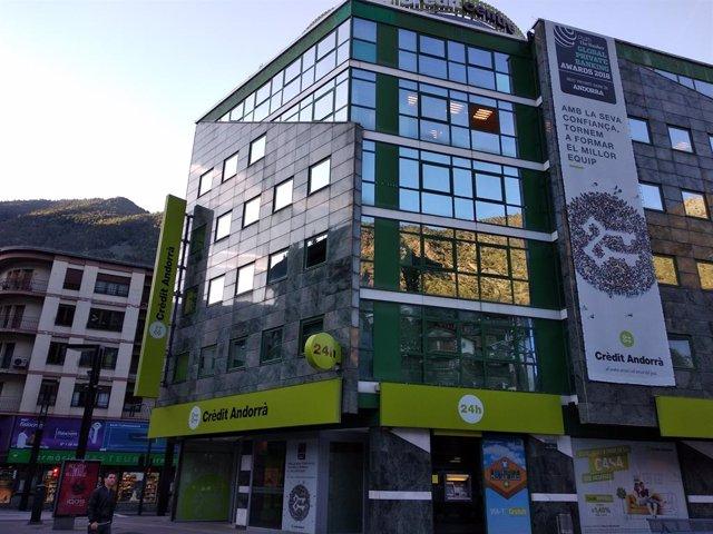 La seu del Grup Crèdit Andorrà a Andorra la Vella