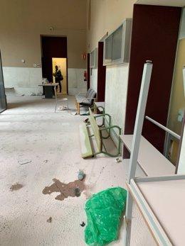 Daños en la Universitat de Lleida durante la detención de Pablo Hasel
