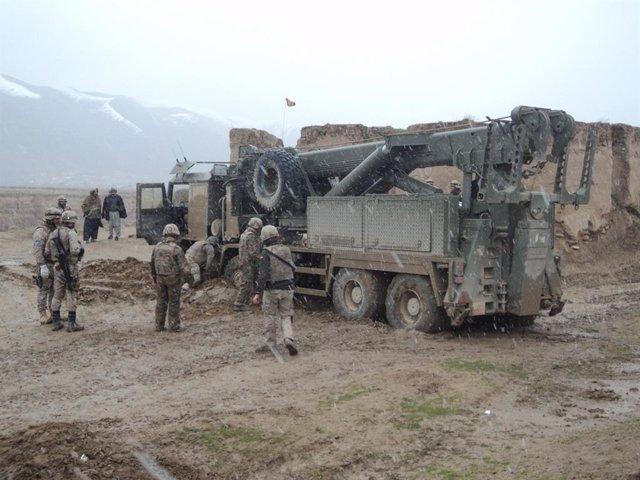 Personal de la Brigada Logística en Afganistán.