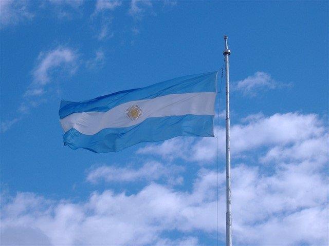 Archivo - Bandera de Argentina.