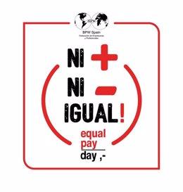 Lema de EVAP para la celebración del día interncional por la igualdad salarial qu ese celebra el 22 de febrero