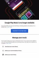Página para transferir archivos de Play Music a Yo