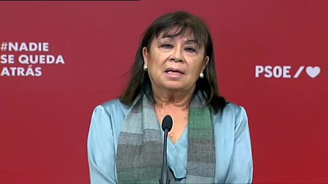 Declaraciones de la presidenta del PSOE, Cristina Narbona