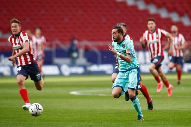 Jose Luis Morales of Levante in action during the spanish league, La Liga, football match played between Atletico de Madrid and Levante UD at Wanda Metropolitano stadium on february 20, 2021, in Madrid, Spain.