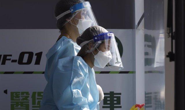 Médicos en la zona urbana de Hong Kong