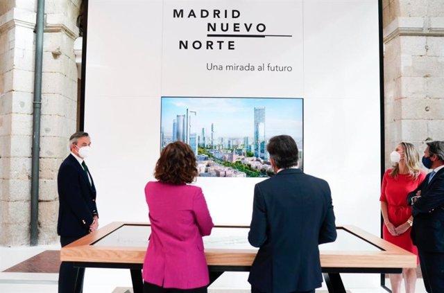 Archivo - Presentación de la maqueta digital de Madrid Nuevo Norte en la Real Casa de Correos