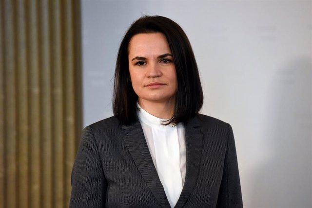 Archivo - Arxiu - La líder opositora bielorusa Svetlana Tikhanóvskaia