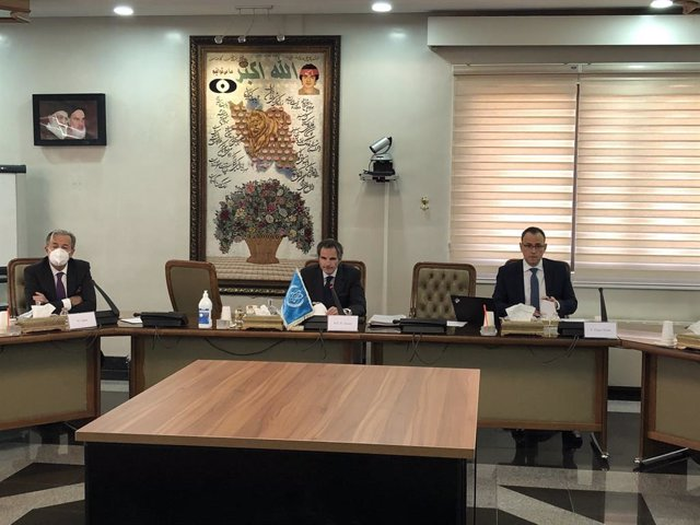 Reunión del director general de la AIEA, Rafael Grossi, con dirigentes iraníes en Teherán