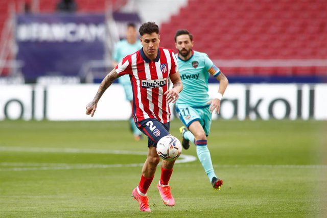 Jose Maria Gimenez of Atletico de Madrid in action during the spanish league, La Liga, football match played between Atletico de Madrid and Levante UD at Wanda Metropolitano stadium on february 20, 2021, in Madrid, Spain.