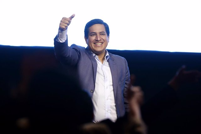 El candidato presidencial ecuatoriano Andrés Arauz