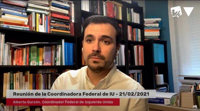 El coordinador federal d'Esquerra Unida i ministre de Consum, Alberto Garzón,