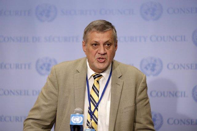 Archivo - El enviado especial de la ONU para Libia, Jan Kubis