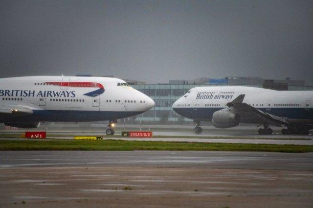 Archivo - Los dos últimos 747 de British Airways.