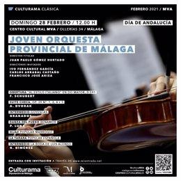 La Joven Orquesta Provincial de Málaga protagoniza el domingo un concierto con motivo del Día de Andalucía