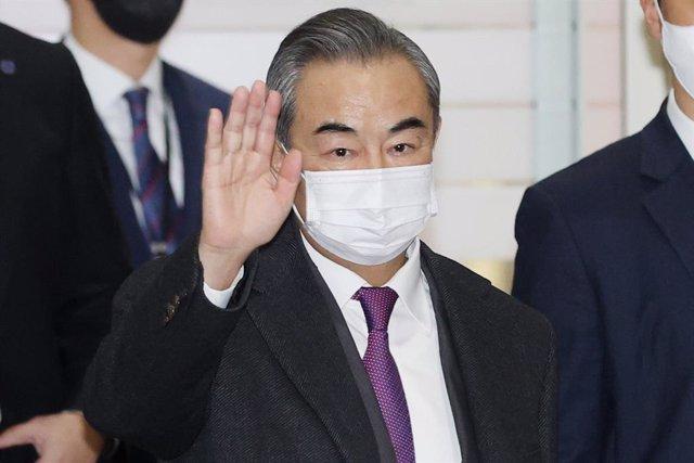 Archivo - El ministre xinès d'Afers Exteriors, Wang Yi