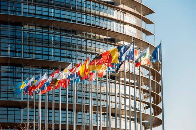 Imagen de las banderas europeas.