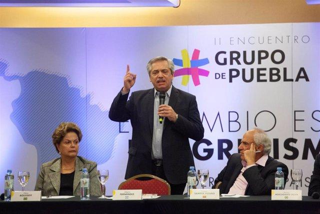 Imagen de archivo de un encuentro del Grupo de Puebla.