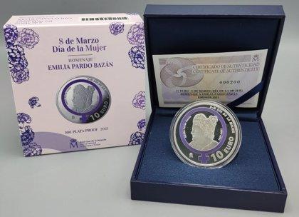 La Fábrica Nacional de Moneda y Timbre lanza una moneda conmemorativa en homenaje a Emilia Pardo Bazán por el 8 de Marzo