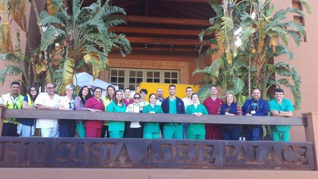 Dispositivo sanitario del Hotel H10 Costa Adeje Palace
