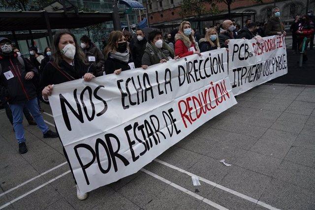 La plantilla de PCB se concentra este lunes ante la SPRI en Bilbao