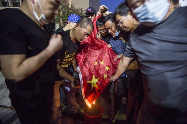 Archivo - Imagen de archivo de las protestas en Hong Kong.