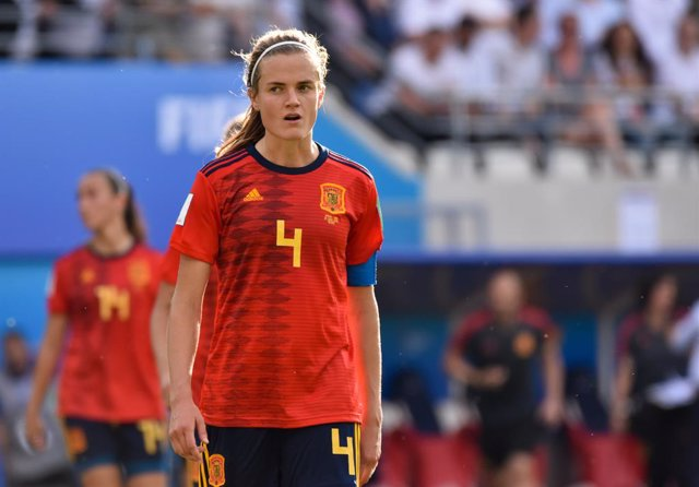 Archivo - Irene Paredes of Spain reacts during the FIFA Women's World Cup France 2019, round of 16, football match between Spain and USA on June 24, 2019 at Auguste Delaune stadium in Reims, France - Photo Melanie Laurent / A2M Sport Consulting / DPPI