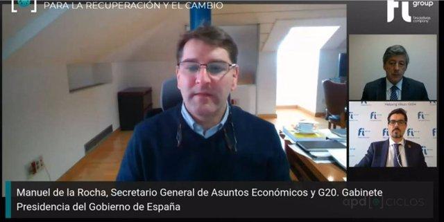 El secretario general de Asuntos Económicos y G20 del gabinete de Presidencia del Gobierno, Manuel de la Rocha,