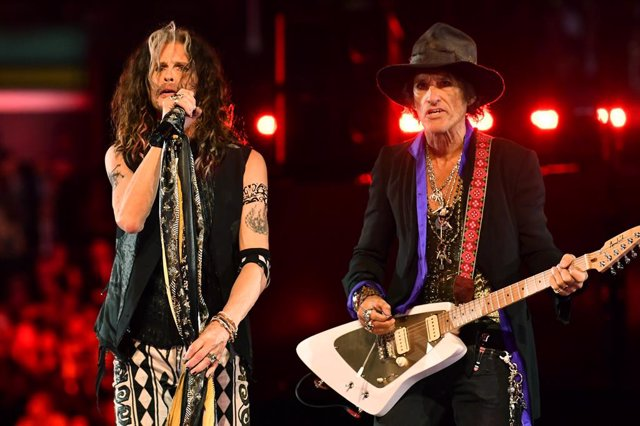 Archivo - Steven Tyler y Joe Perry de Aerosmith
