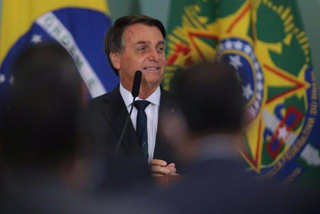Archivo - El presidente de Brasil. Jair Bolsonaro.