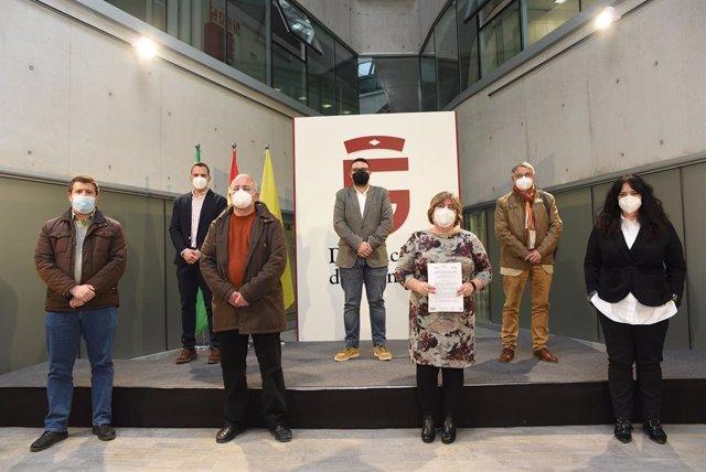 Rueda de prensa en la Diputación de Granada