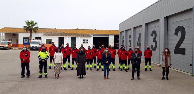 Inauguración del primer curso de capacitación de bomberos en Menorca.