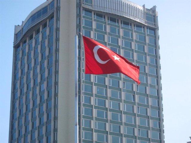 Archivo - Imagen de archivo de una bandera de Turquía