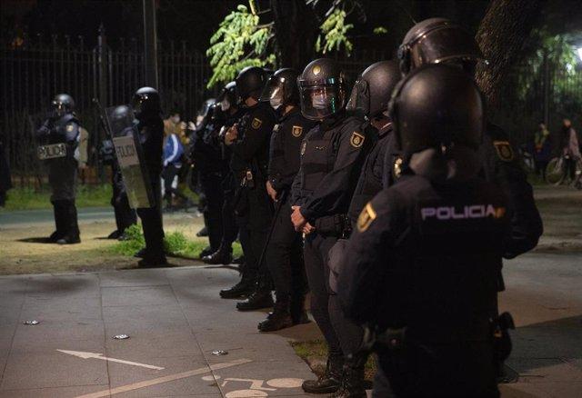 Despliegue policial en Sevilla