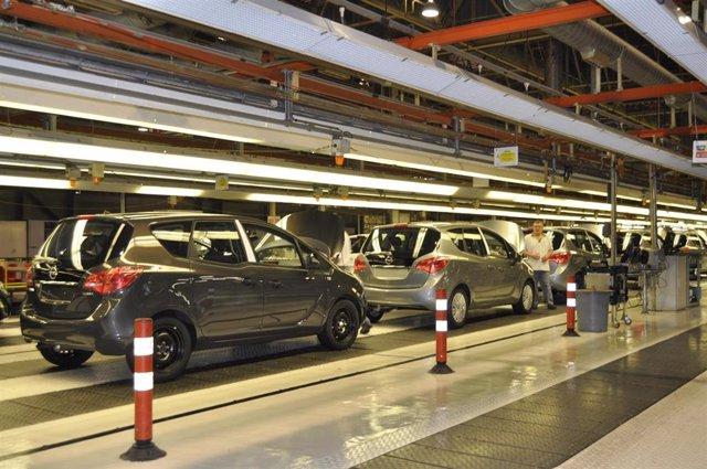 Archivo - Planta de Opel España