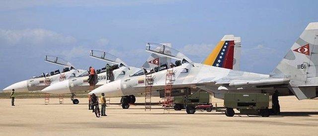 Aviones de combate Sujoi-30 de las Fuerzas Aéreas de Venezuela